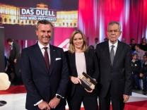Wien 20 11 2016 Puls4 Wahlarena Wien AUT Puls4 Duell Wer wird Praesident anlaesslich der Praesid