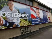 Wahlplakate in Wien