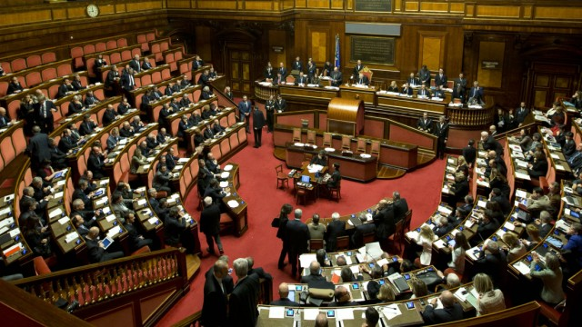 Italiens Senat im Palazzo Madama