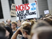 "Demonstranten auf dem Berliner ""Slutwalk"""