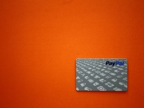 A PayPal card is shown  in this file photo as customers can now pay with the card at selected Home Depot stores such as the one in Daly City