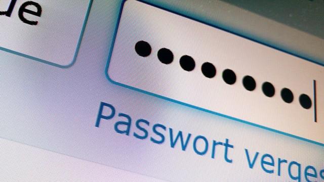 Passwort-Eingabe im Internet