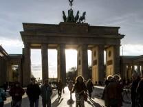 Das Brandenburger Tor Berlin Deutschland
