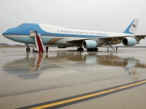 AIr Force One at Joint Base Andrews in Maryland