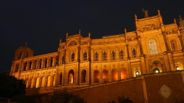 Maximilianeum bei Nacht, 2005