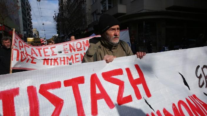 24 hour general strike in Greece