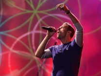 British rock band Coldplay performing in Brisbane