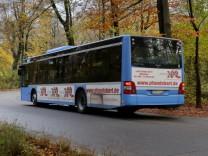 Busverkehr durch den Englischen Garten in München, 2016