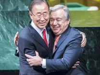 Antonio Guterres is the new Secretary General of the UN New York 12 12 2016 Antonio Guterres gre