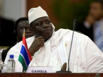 Gambia's President Jammeh attends the plenary session of the Africa-South America Summit on Margarita Island