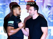 Anthony Joshua vs Wladimir Klitschko press conference at Wembley