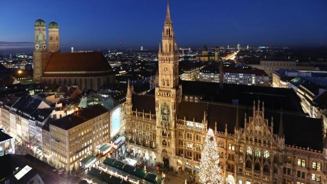 München Weihnachtsmarkt.München Italiener Wochenende Auf Dem Weihnachtsmarkt München