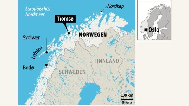 Karte Norwegen Drucken.Tromso In Norwegen Reise Zum Polarlicht Reise