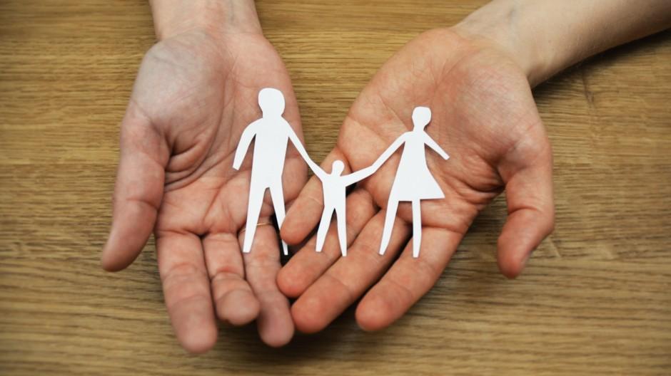 Erziehung Familientrio