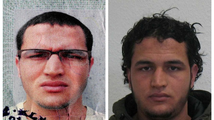 Handout pictures released by the German Bundeskriminalamt (BKA) Federal Crime Office show suspect Anis Amri searched in relation with the Monday's truck attack on a Christmas market in Berlin