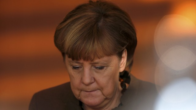 German Chancellor Merkel attends the weekly cabinet meeting in Berlin