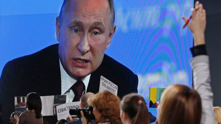 Annual press conference of Russian President Putin