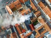 Brand in Straubinger Altstadt