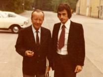 Wolfgang Maier mit Erik Ode im Jahr 1974.