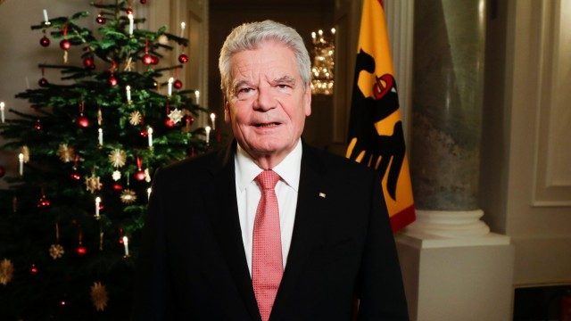 Süddeutsche Zeitung Politik Weihnachtsansprache des Bundespräsidenten