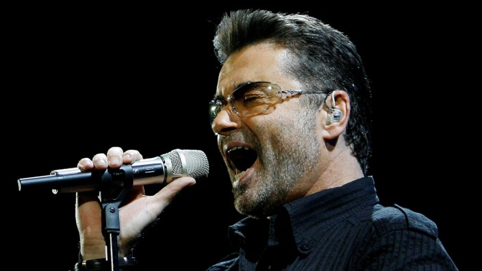 FILE PHOTO: George Michael performs in concert at the Forum during his 'Live Global Tour' in Inglewood