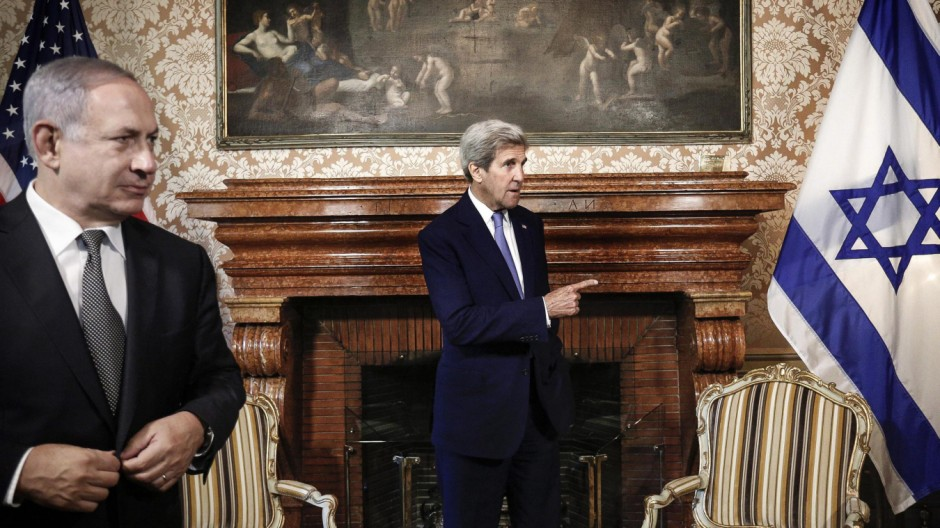 John Kerry meets with premier Benyamin Netanyahu in Rome to discu