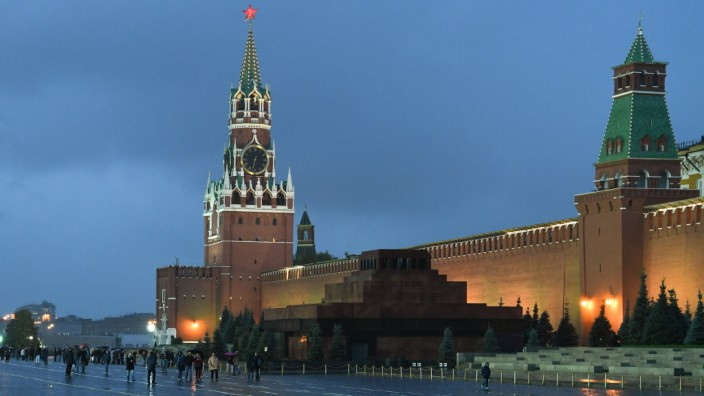 Der Kreml in Moskau am Abend