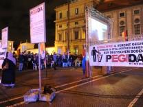 Pegida Demonstration an der Feldherrnhalle in München, 2016