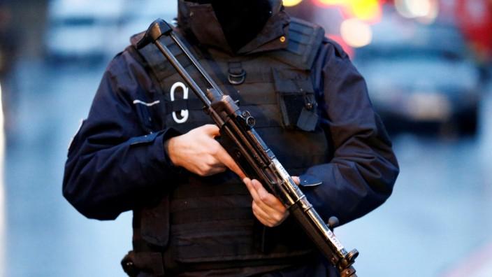 Police secure the area near an Istanbul nightclub in Turkey