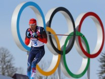 ITAR TASS SOCHI RUSSIA FEBRUARY 23 2014 Russia s Alexander Legkov competes in the men s cross c
