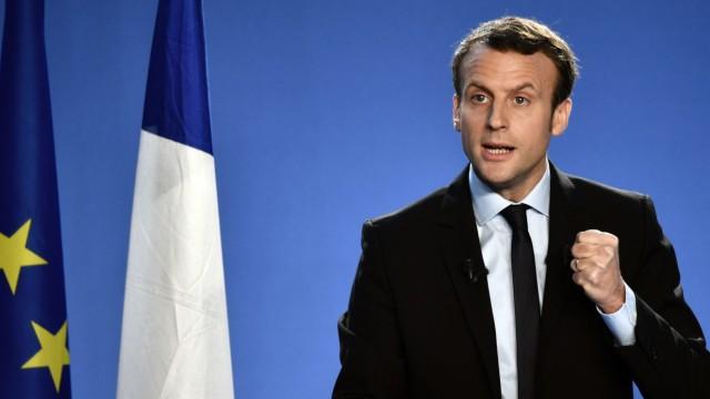 Emmanuel Macron Französischer Präsidentschaftskandidat