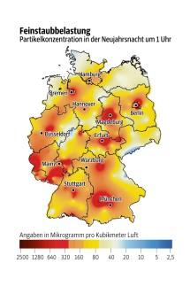 Thema des Tages Luftverschmutzung an Neujahr
