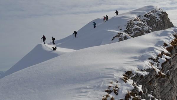 Schneeschuh Wanderung Kleinwalsertal