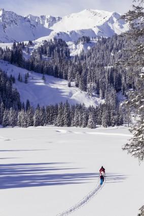 Schneeschuh Tour Wanderung Kleinwalsertal Österreich