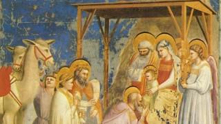 Gemälde von Giotto di Bondone - Anbetung mit Komet