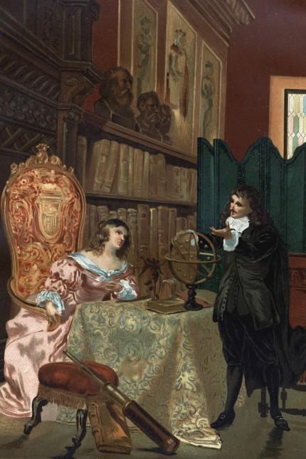 René Descartes 1596 1650 donnant des leçons de philosophie à la reine Christine de Suède 1626 168