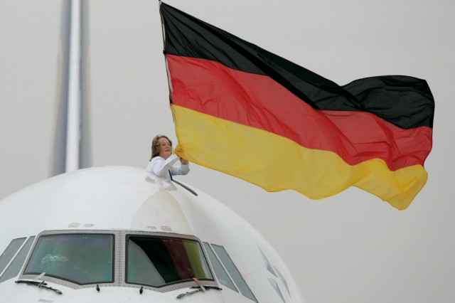 Womens National Soccer Team Returns Victorious To Germany