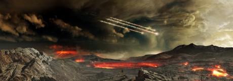 Meteoriten-Hagel