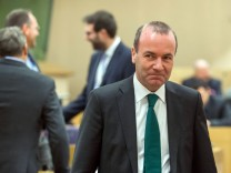 Manfred Weber on the election of the EP President, Brussels, Belgium - 10 Jan 2017