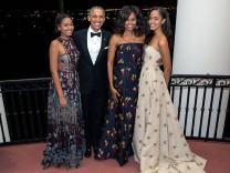 Barack Obama mit seiner Familie