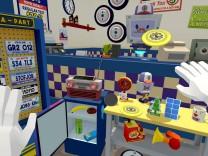 "Eine Szene aus dem Virtual-Reality-Spiel ""Job Simulator"""