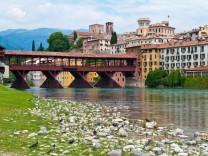 Bassano del Grappe in der Region Venetien in Italien McPBBO McPBBO