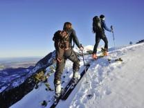 Skitour Farchant DEU 12 01 2012 Skitour im Hochwinter auf den Wank bei Garmisch Patenkirchen Farc