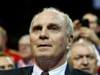 FILE PHOTO: Bayern Munich's Hoeness arrives during the annual general meeting