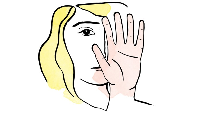 Linkshänderin