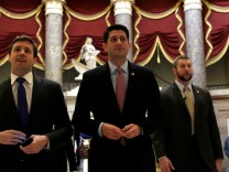 U.S. House Speaker Paul Ryan (R-WI) walks to the House Chamber to vote on Obamacare repeal, on Capitol Hill in Washington