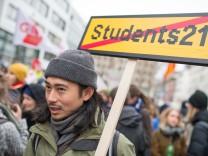 Zentrale Kundgebung gegen Studiengebühren