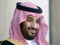File photo of Saudi Arabia's Deputy Crown Prince Mohammed bin Salman reacting upon his arrival at the Elysee Palace in Paris