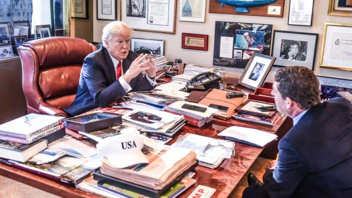 Donald Trump im Interview mit Kai Diekmann
