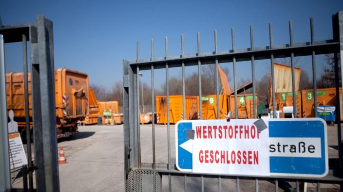 Wertstoffhöfe in München wegen Razzia geschlossen, 2014